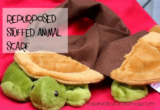repurposed stuffed animal scarf