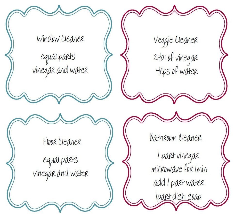 Now you can make those plastic bottles look pretty with these lovely labels. Having the ingredients right on the label is a plus and safe (don't want to get ...
