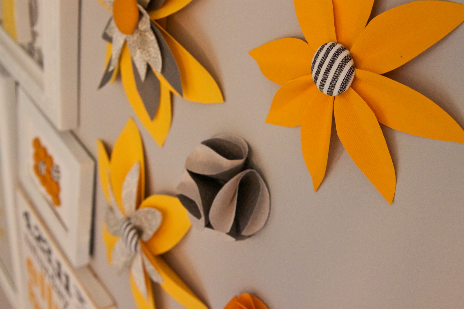 paper flower wall art inspired by family