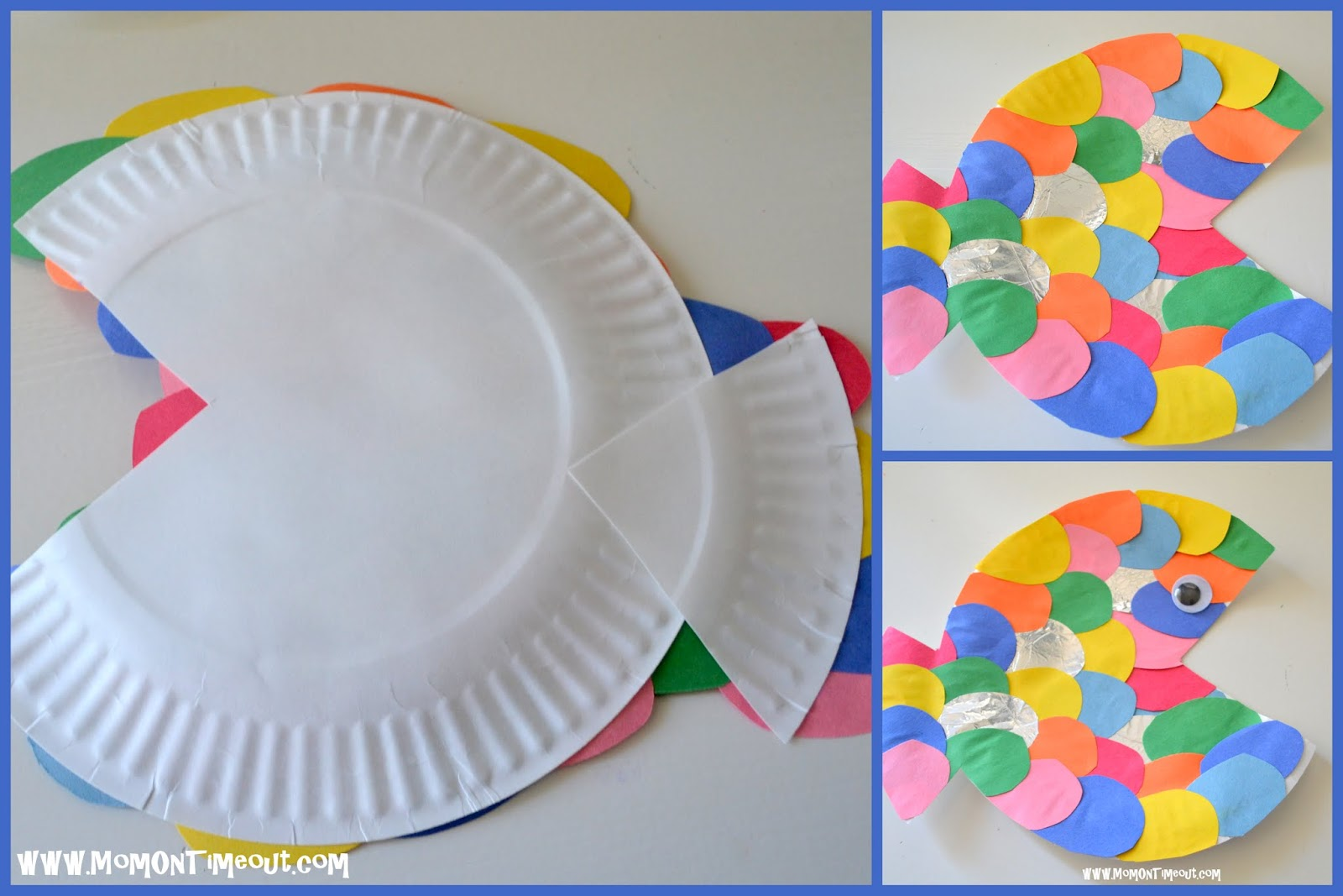 Summer reading adventure week 2 the rainbow fish for Paper plate fish