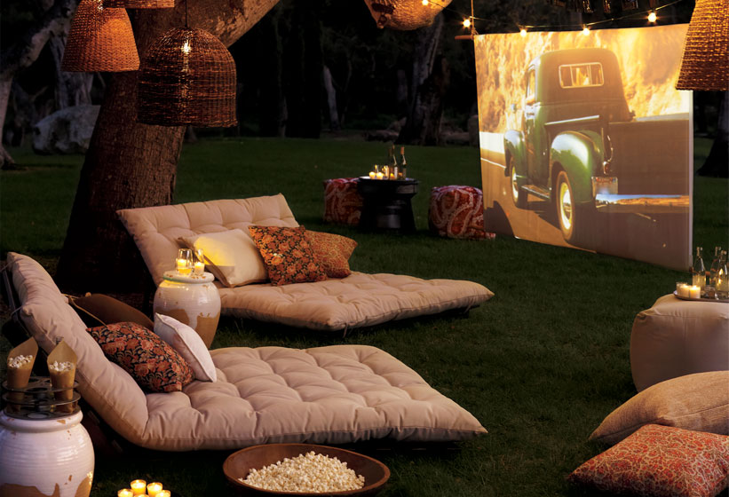 outdoor movie party inspired by family