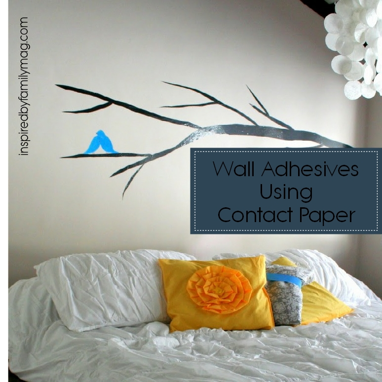 Contact Paper For Walls wall decals using contact paper - inspiredfamily