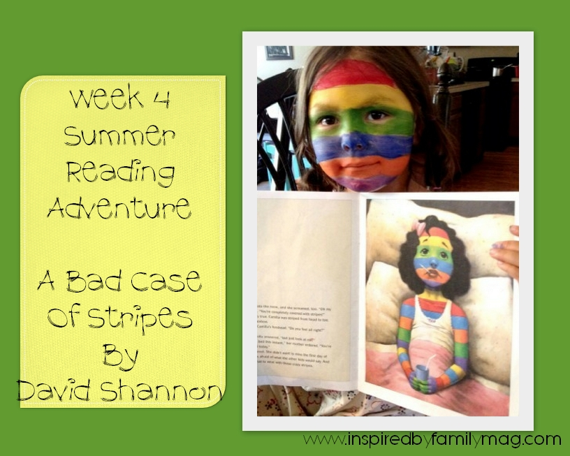Wk 4 Summer Reading Adventure A Bad Case of Stripes Inspired by – A Bad Case of Stripes Worksheets