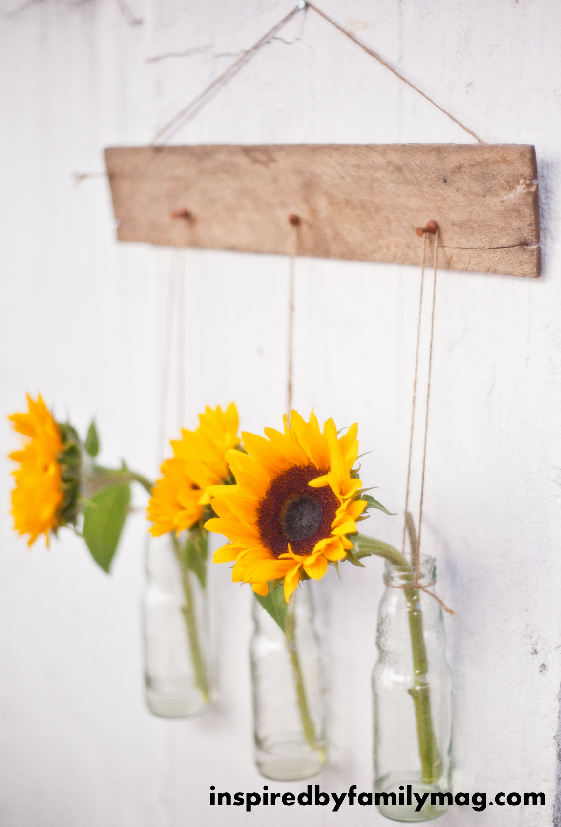 Pallet Wall Decor Hanging Vases Inspired By Family