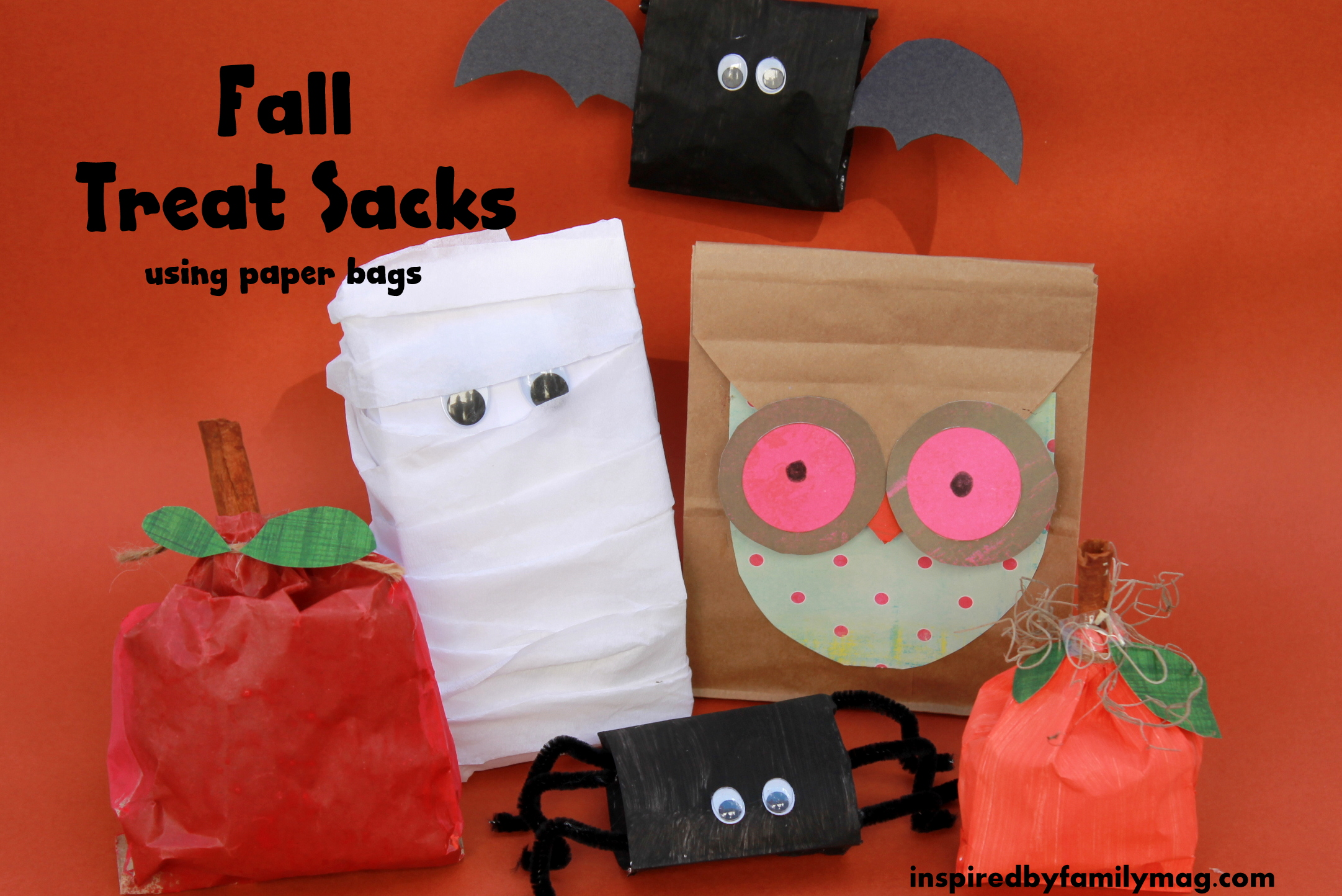 Fall Paper Bag Crafts   Inspired by Familia XhVLA27h