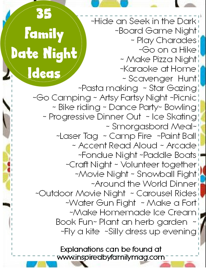 Family Date Night Ideas Inspired By Family