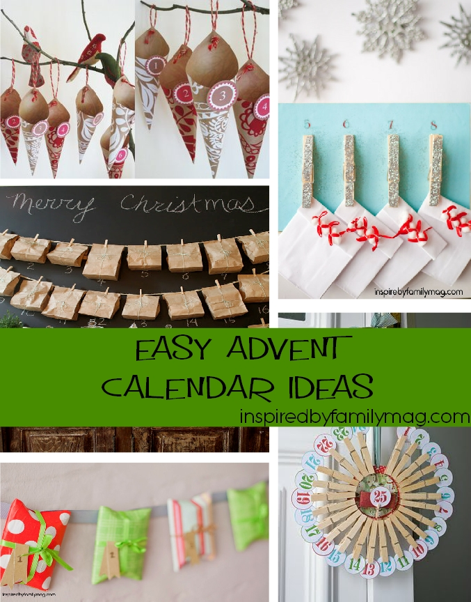 Christmas Calendar Ideas : Easy christmas advent calendar ideas mommy s