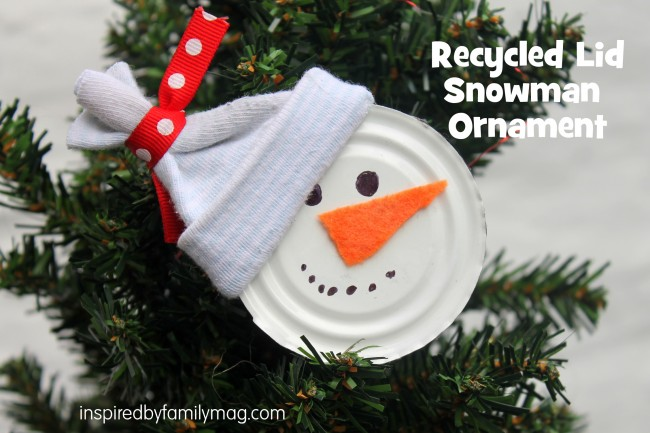 Christmas Ornament Craft  Recycled Snowman Inspired by qqXhvUmN
