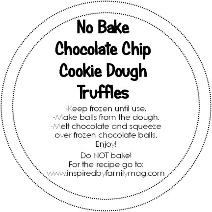 printable, edible gifts