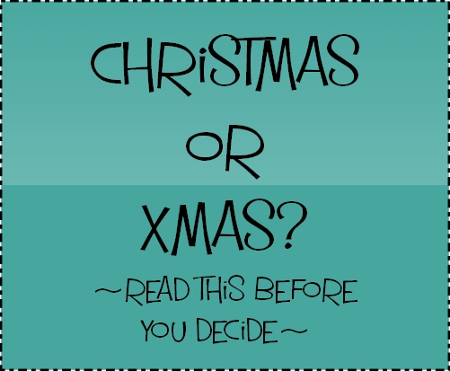 christmas or xmas