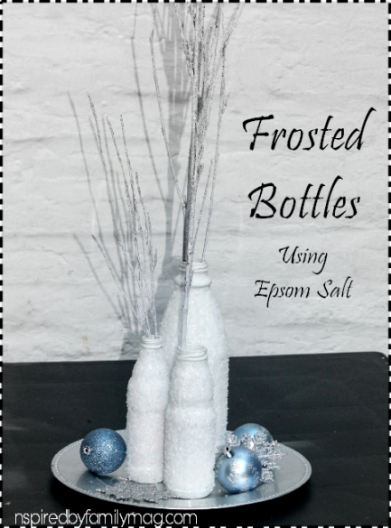 frosted bottles using salt