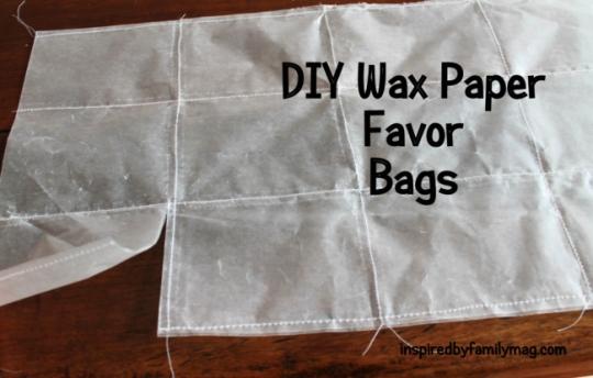 DIY Wax Paper Favor Bags