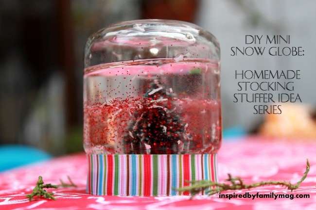 DIY Mini Snow Globe: Homemade Stocking Stuffer Gift - Inspired by Family
