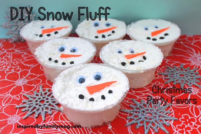 Winter Party Favors DIY Snow Dough