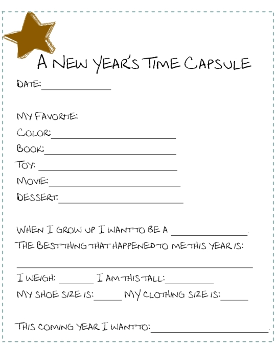 New Years Time Capsule