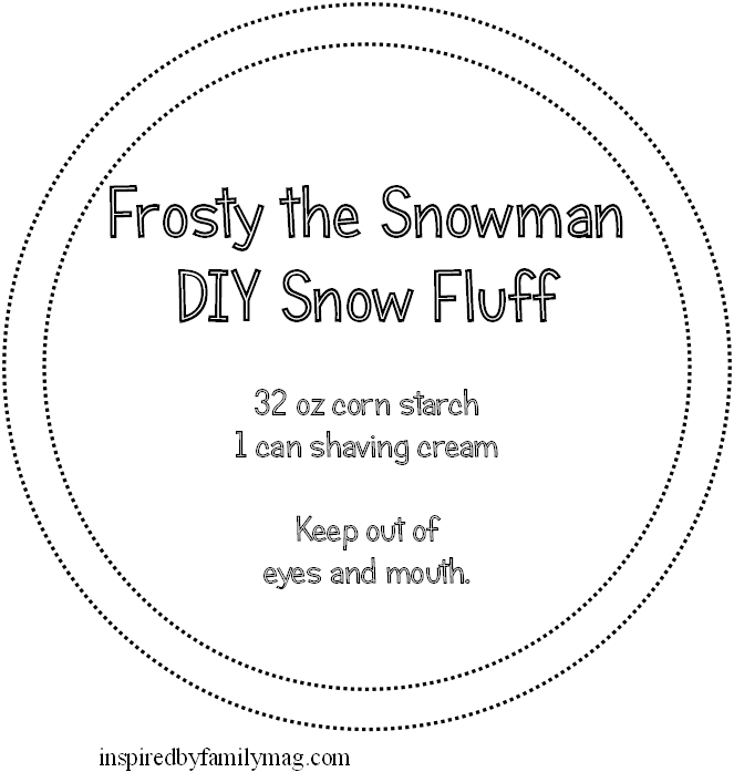 snow fluff printable