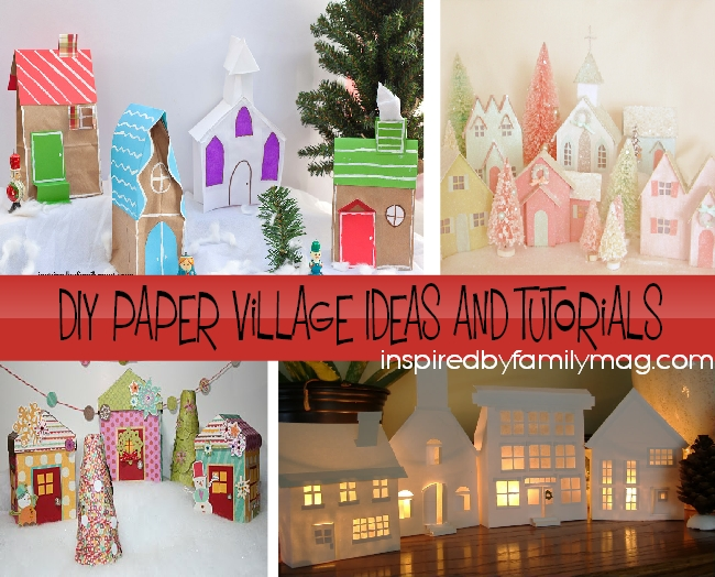 DIY Christmas Village Craft: From Paper Bags - Inspired by Family
