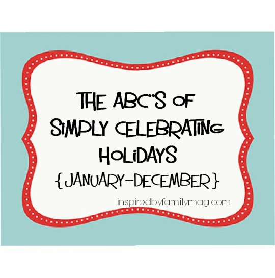 abc's of celebrating holidays