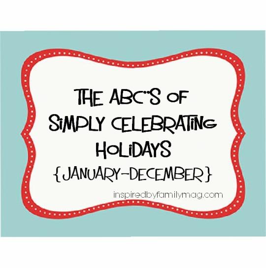 abc's of celebrating holidays