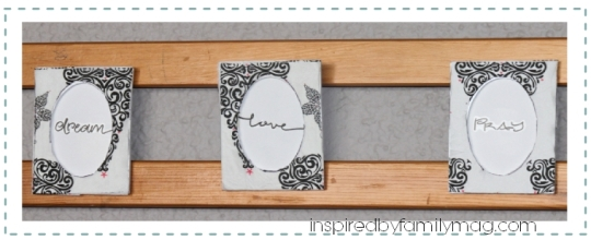 diy $1 picture frames