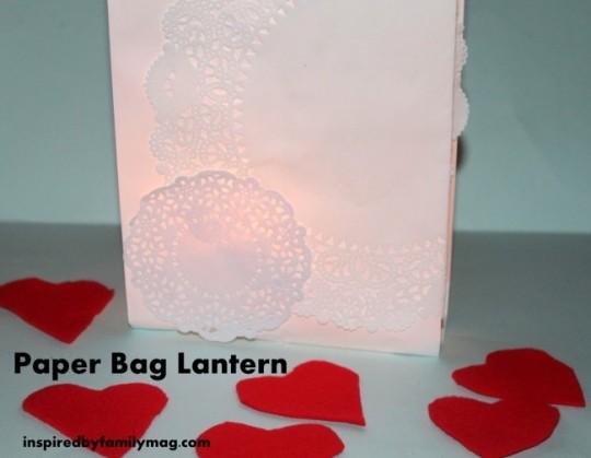 diy paper bag lantern