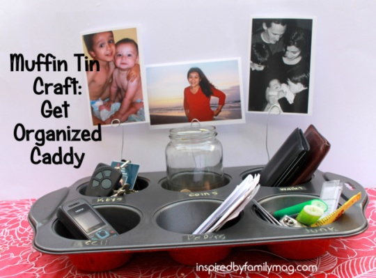 get organized caddy muffin tin craft