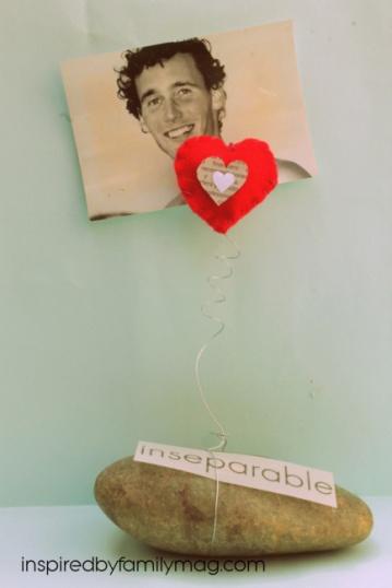 diy photo frame valentines