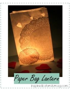 paper bag lantern