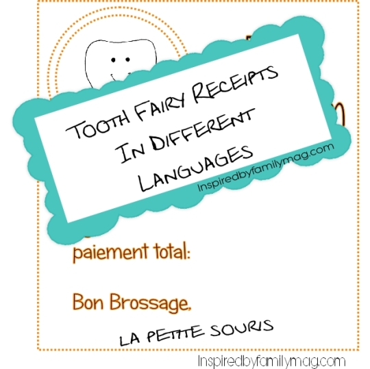 tooth fairy receipts in different languages