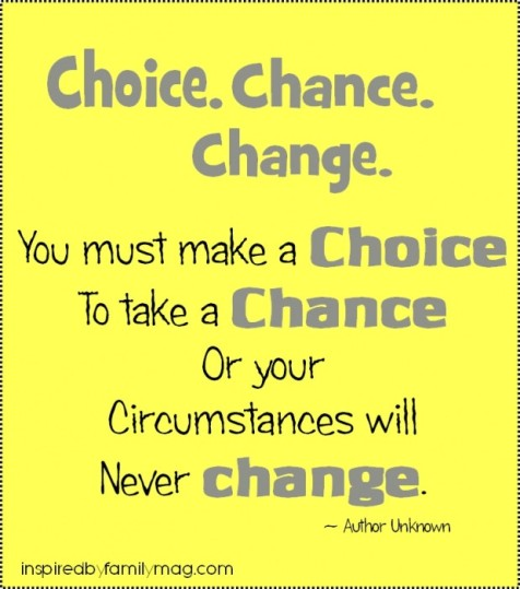 choice, chance, change 2