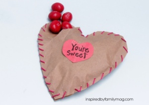 heart party favor sewn with love