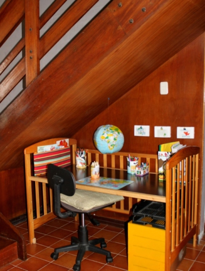 recycled crib project: desk