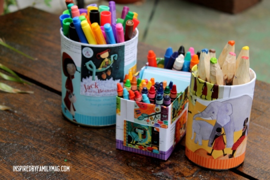 recycled desk organizers