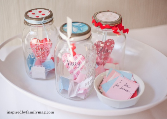 valentines craft love notes