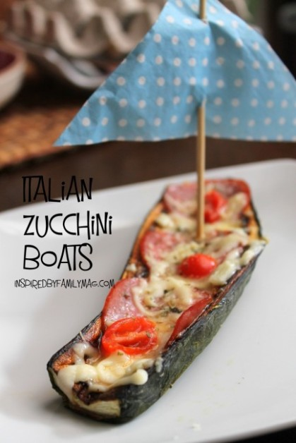 kid friendly veggies- zuchinni boats