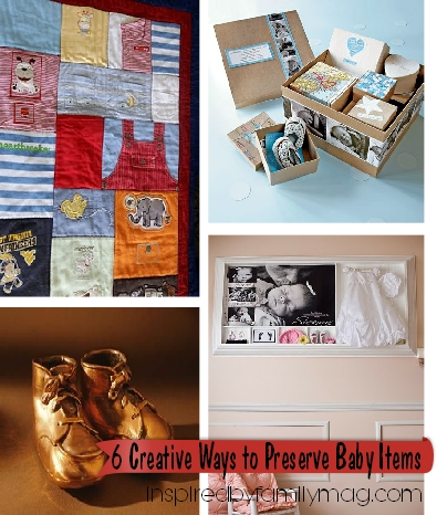 creative ways to preserve baby items