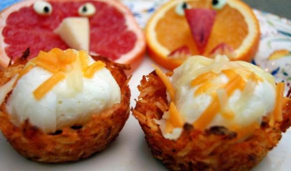 egg potato nest