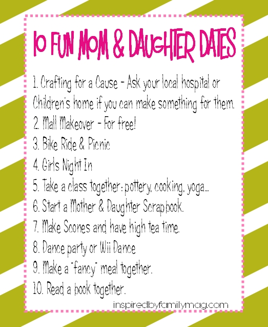10 fun frugal mother daughter dates inspired by family for Things to do on mother s day at home