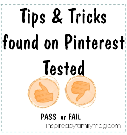 tips and tricks on pinterest tested