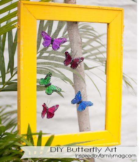 diy butterfly art