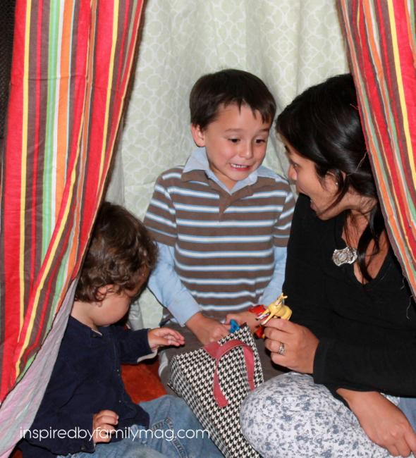 diy play tent fort