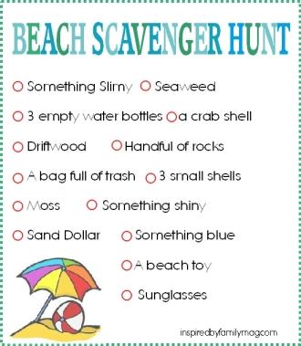 beach scavenger hunt