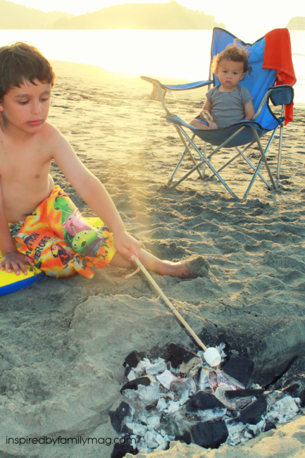 Smores at the beach