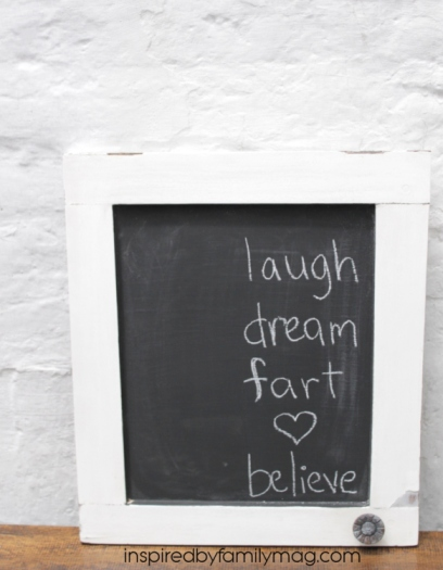 diy chalk board from cabinet doors